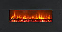 "Modern Flames 58"" Wall Mount Linear Electric Fireplace Black Granite"