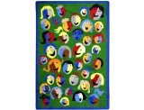 "Joy Carpets Kid Essentials Early Childhood Joyful Faces Rug, Green, 7'8"" x 10'9"""