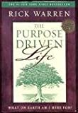 img - for The Purpose Driven Life 1st (first) edition Text Only book / textbook / text book