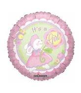 "18"""" Sv It'S A Girl Bunny Balloon"