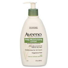 Johnson And Johnson Aveeno Daily Moisture Body Lotion, 12 Ounce -- 12 Per Case. front-1028550