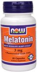 Melatonin 3 mg - 60 gelules - Now foods
