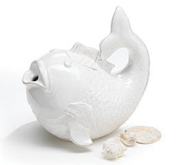 Buy Sanibel Sands Fish Shape Teapot Beach Home Decor
