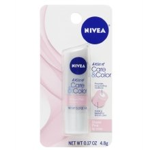 Nivea Lip Care A Kiss of Care and Color Tinted Lip Balm Carded Stick, Pink, Pink, 6 Count