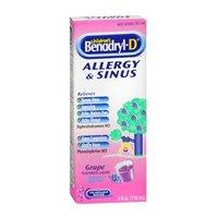 Benadryl Benadryl-D Childrens Allergy And Sinus Liquid Grape, Grape 4 oz (Pack of 3) (Benadryl Children Grape compare prices)