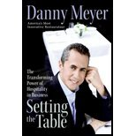 img - for Setting the Table Transforming Power of Hospitality in Business by Meyer, Danny [Harper,2006] [Hardcover] Reprint book / textbook / text book