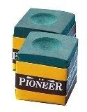 Pioneer Pool Snooker Billiard Cue Chalk GREEN Pioneer 12 Piece