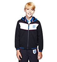 England FA Pure Cotton 3 Lions Hooded Sweat Top