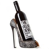 Wild Eye High Heel Bottle Holder, Black Lace