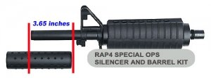 32 Degrees Special Ops Thread-On Silencer - paintball equipment