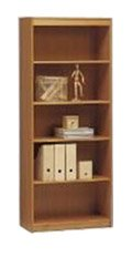 Jaycee Classic Soft 5 Shelves Outside Corner Bookcase