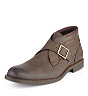 Autograph Waxed Leather Buckle Boots