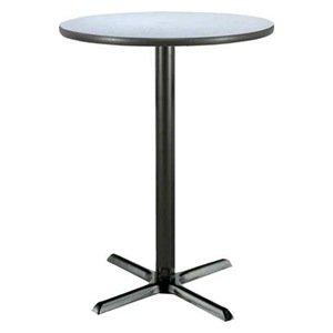 Pedestal Table, 42x42, Gray