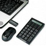 Kensington Wireless Notebook Keypad/Calculator and Mouse Set - Keypad - wireless - RF - mouse - USB wireless receiver - black