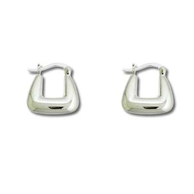 New Fashion Hoop Earrings Jewelry 925 Sterling Silver Small, Puffed Horseshoe style(WoW !With Purchase Over $50 Receive A Marcrame Bracelet Free)