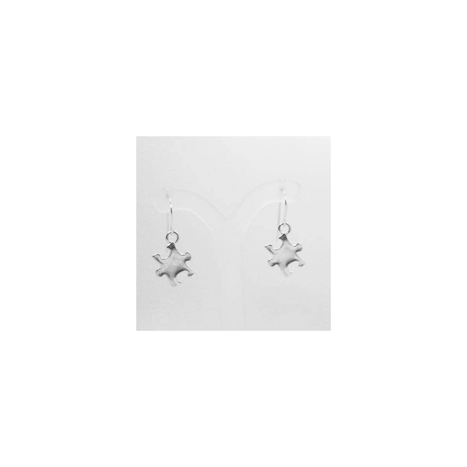 Autism Awareness Puzzle Piece Sterling Silver Earrings