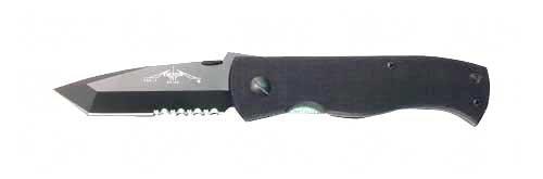 Emerson Bts Folding Knife 154 Cm/Black Combo Tanto Point Dual Thumb Disc/Pocket Clip 3.3 Black G10 Box Rcqc7Bbts