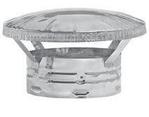 Metal-Fab Plain Stainless Rain Cap - 8 Inch For Class A Pipe