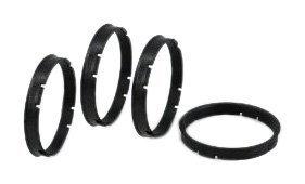 Gorilla Automotive 72-6706 Wheel Hub Centric Rings (72mm OD x 67.06mm ID) – Pack of 4