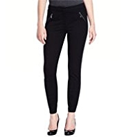 Petite 2 Zip Pocket Treggings