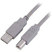 Teccus USB 2.0 Kabel 3.0m Typ A Stecker - Typ B Stecker grau