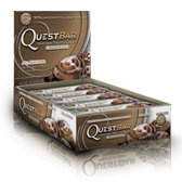Quest Bar 100% Natural Cinnamon Roll - Low Carb, High Protein Bars that are High Fiber and Gluten Free - Box of 12