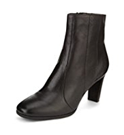 Footglove™ Leather Mid Heel Panelled Boots