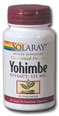 Yohimbe Extract 135mg Solaray 60 Caps
