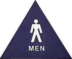 crl men 39 s restroom sign 12 triangle patio lawn garden