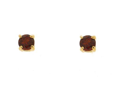 9ct Yellow Gold Mozambique Garnet Earrings