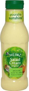 Heinz Salad Cream Dressing Original 14 9 Ounce Squeeze Bottle Pack of 6