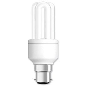 Spicers 181886 - Unbranded Fluorescent Energy Saving Light Bulb Compact Bayonet Fitting 23W