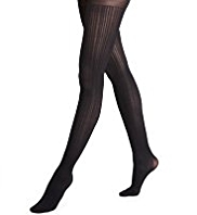 60 Denier Chevron Textured Opaque Tights