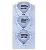 3 Pack Slim Fit Easy Care Plain Shirts
