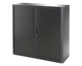 Easy Office Tambour Unit 1 Metre - Color: Black