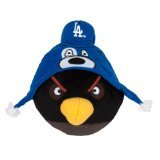 MLB Los Angeles Dodgers Angry Bird Plush Toy, Small, Black