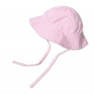 Zutano Candy Stripe Pink Sun Hat with Chin Ties