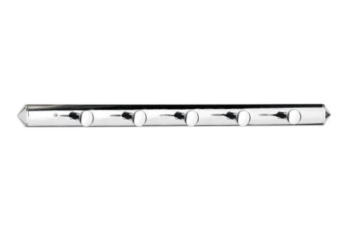 Premier Housewares 5-Hook Wall Hanger, Chrome