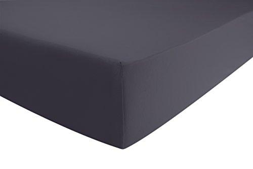 ENTSPANNO-Jersey-Luxus-Spannbettlaken-fr-Wasser-und-Boxspringbett-viele-Farben-in-Grau-Anthrazit-aus-gekmmter-Baumwolle-Spannbetttuch-mit-Einlaufschutz-180-x-200-200-x-220-cm-bis-40-cm-hoher-Steg