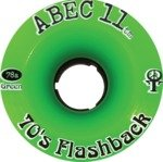 Abec 11 Flashbacks Green Longboard Wheels - 70mm 84a (Set of 4)