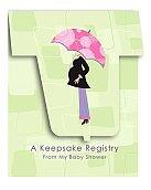 Mod Mom's Shower Keepsake Registry -1/Pkg. - 1