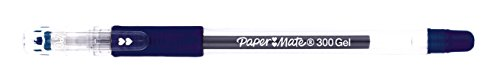 Paper Mate Gel 300 S0929360 - Bolígrafo roller de gel (0.7 mm, línea de 0.5 mm, 20 unidades), color azul
