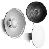 "Fotodiox Pro Beauty Dish 18"" with Honeycomb Grid and Speedring for Canon Flash Speedlight"