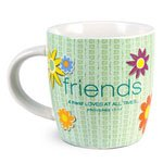 LCP Ceramic Mug Of Encouragement With Whimsical Designs Cup Of Friendship