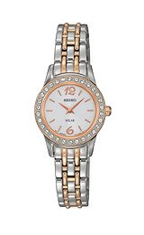 Seiko Solar Swarovski® Crystals Two-tone Women's watch #SUP130