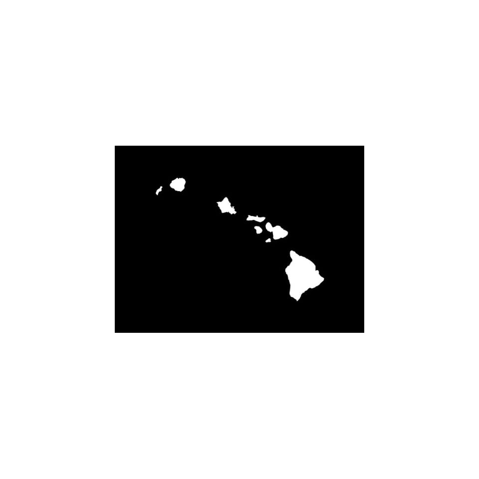 Hawaii Islands Sticker (Bumper Sticker)