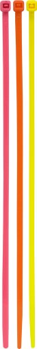 Ge Cable Ties, Plastic 8-Inch Neon, Assorted Colors, 100-Pack 50296 back-238572