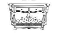 Cheap Aico Grande Aristocrat Console Table – 55223-06 (B0042CELPC)