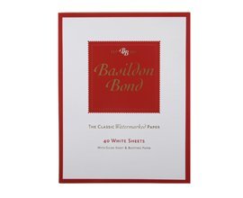 Basildon Bond Writing Pad 229x178mm 80 Pages 40 Sheets - Color: White