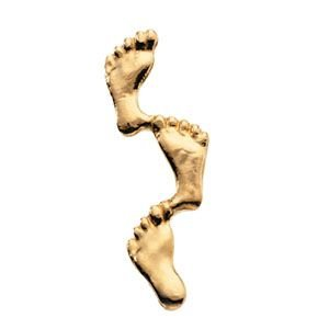 Amazon Com 14k Yellow Gold Footprints In The Sand Lapel
